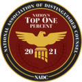 Top one percent – 2021